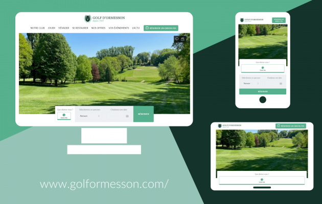 The Golf d'Ormesson Website has a new look!