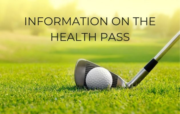 Information on the health pass in our golf club